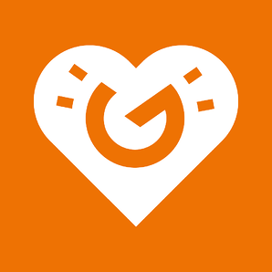 Vastuullisuusikoni sydän tumma oranssi 1080x1080px