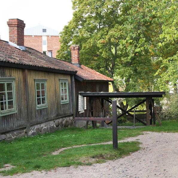 Luostarinmäen käsityöläismuseon piha